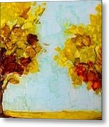 Trees In The Fall Metal Print by Patricia Awapara