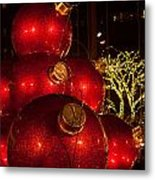 Trees Lights And Ornaments Metal Print