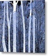 Trees Square Metal Print