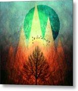 Trees Under Magic Mountains I I Metal Print