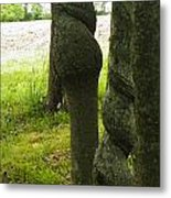 Trees With A Twist Metal Print