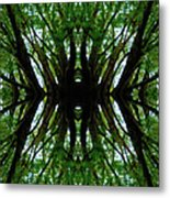 Treetops Abstract Metal Print