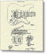 Tremolo Device 1956 Patent Art Metal Print