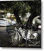 Tres Bikes Metal Print