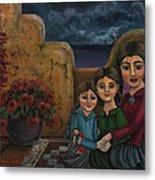 Tres Mujeres Three Women Metal Print by Victoria De Almeida
