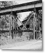 Trestle And Barn Metal Print