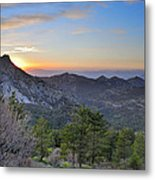 Trevenque Mountain At Sunset  2079 M Metal Print
