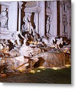 Trevi Fountain Evening Metal Print