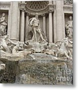 Trevi Fountain In Rome Metal Print