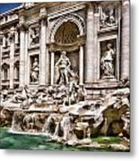 Trevi Fountain In Rome Italy Metal Print