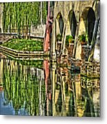 Treviso Canal And Reflections Metal Print