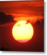 Tri Colored Sunset Metal Print