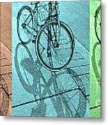 Tri-coloured Bicycle Print Metal Print