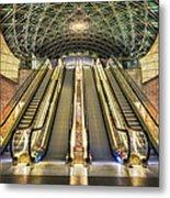 Triangeln Station Escalators Metal Print