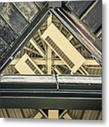 Triangle Ceiling Metal Print