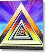Triangle Pathway Metal Print