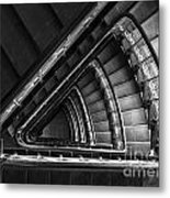 Triangle Staircaise In Bw Metal Print