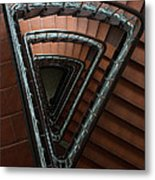 Triangle Staircase Metal Print