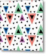 Triangular Dance Repeat Print Metal Print