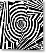 Triangular Spheres Maze Metal Print