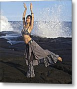 Tribal Belly Dancer Metal Print