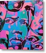 Tribal Graffiti Faces Metal Print