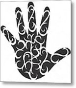 Tribal Hand Metal Print by Jennifer Kimberly