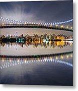 Triboro Bridge Panorama At Night Metal Print
