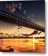 Triboro Sunset Metal Print