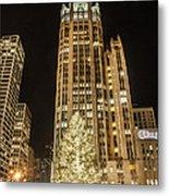 Tribune Plaza At Christmas Metal Print