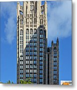 Tribune Tower Chicago - History Is Part Of The Building Metal Print