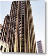 Tribune Tower Facade Metal Print