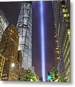 Tribute In Light And Freedom Tower Metal Print