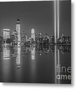 Tribute In Light Reflections Bw Metal Print