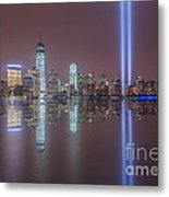 Tribute In Light Reflections Metal Print