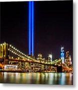 Tribute Lights From Brooklyn Metal Print