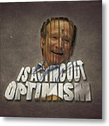Tribute To Robin Williams Typography Metal Print