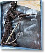 Tribute To The Miner Metal Print
