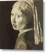 Tribute To Vermeer Homenaje A Jan Vermeer Metal Print by Fernando A Hernandez