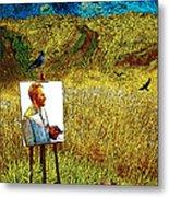 Tribute To Vincent Van Gogh - His Final Days Metal Print
