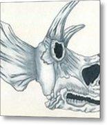 Tricerotops Skull Metal Print