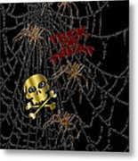 Trick Or Treat Halloween Digital Artwork Metal Print