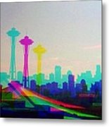Tricolor Seattle Space Needle Metal Print