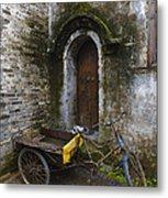 Tricycle Parked In Alleyway Metal Print