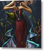 Tridacna - Red Metal Print