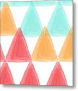 Trifold- Colorful Abstract Pattern Painting Metal Print