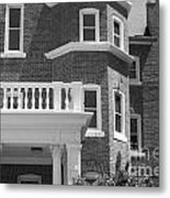 Trims And Courses Black And White Metal Print