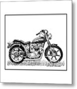 Trimuph In Black And White Metal Print