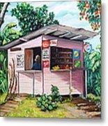 Trini Roti Shop Metal Print