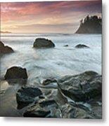 Trinidad Sunset Seascape Metal Print